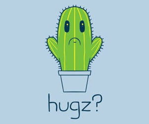 hug, cute, and cactus image