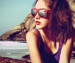 girl, beach, and fashion image