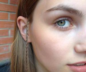 girl, braid, and eyes image