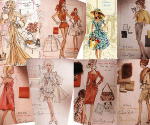fashion, sketch, and drawing image