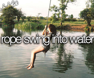 water, rope, and bucket list image