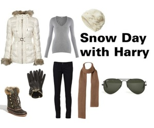 imagine, outfit, and snow day image