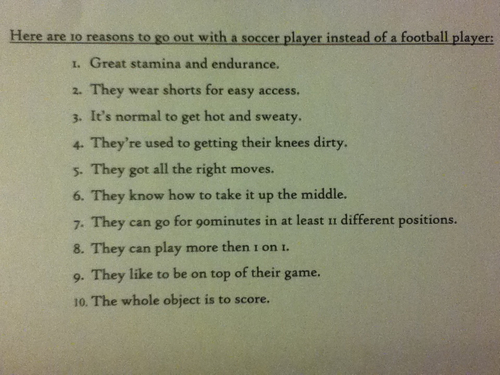 How to date a soccer player