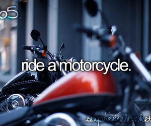 motorcycle, ride, and bucket list image