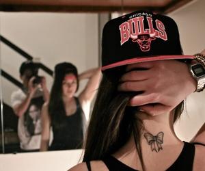 girl, tattoo, and bulls image