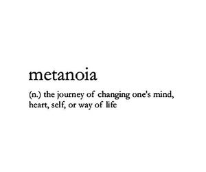 quote and metanoia image