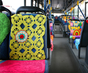 decorated bus seats image