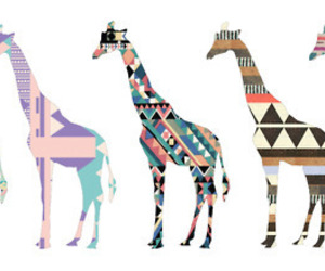 giraffe, animal, and pattern image