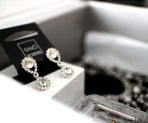 diamond, earrings, and fashion image