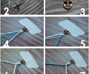 diy, bracelet, and anchor image