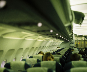 airplane, plane, and travel image