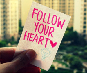 heart, follow, and quotes image