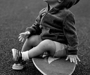 cute, baby, and skate image