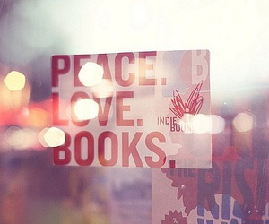 book, peace, and love image