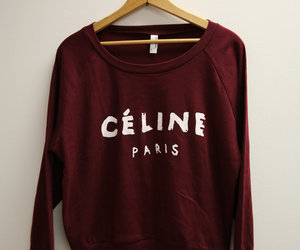 burgundy, paris, and sweater image