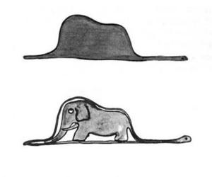 book, elephant, and the little prince image