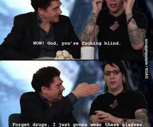 Marilyn Manson, drugs, and funny image