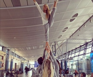girl, cheerleading, and cheer image