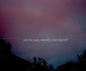 yours, forever, and text image