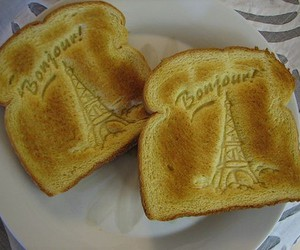 paris, toast, and bonjour image