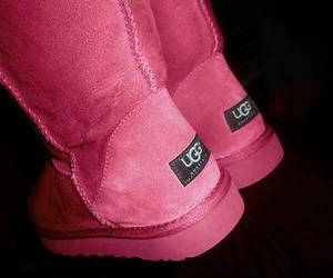 pink, ugg, and uggs image