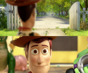 toy story, woody, and andy image