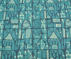 fabric, vintage, and midcentury image
