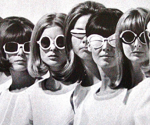 1960s, girls, and b&w image