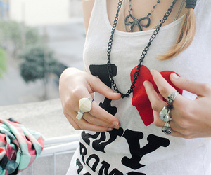 fashion, ring, and tank top image