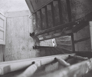 dark and staircase image
