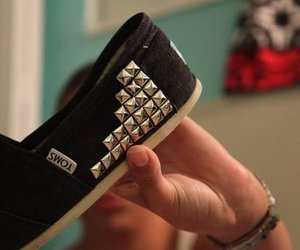 toms, shoes, and black image