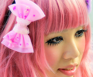 bow, girl, and pink image