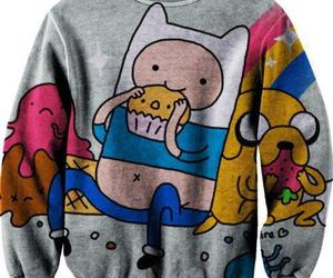 adventure time, sweater, and JAKe image