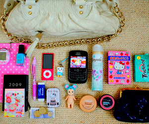 bag, pink, and blackberry image