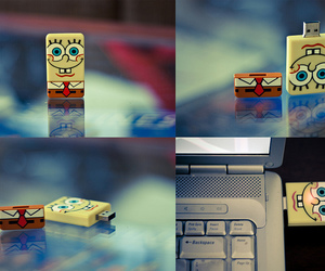 spongebob, usb, and sponge bob image