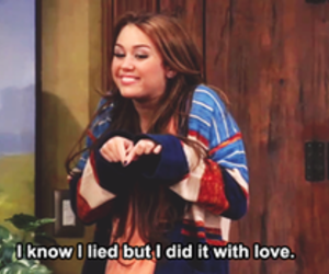 miley cyrus, love, and hannah montana image