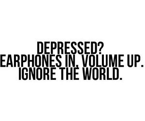 music, depressed, and quote image