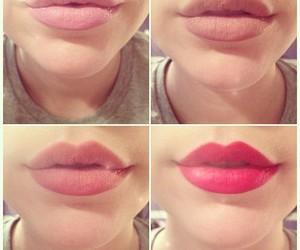 lips, girl, and pink image