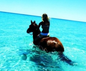 girl, horse, and nice image