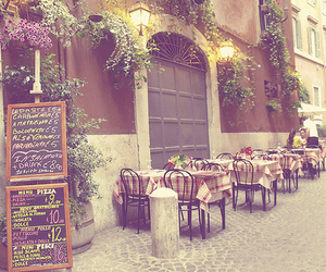 cafe, vintage, and flowers image