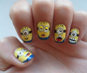 nails, minions, and art image