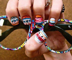 nails, glasses, and cool image