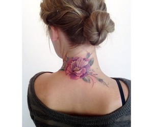 flower, tattoo, and watercolor image