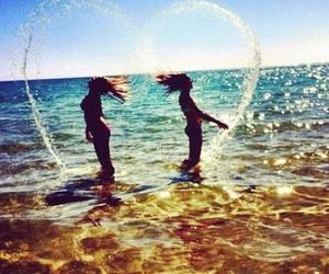 beach, beauty, and teens image