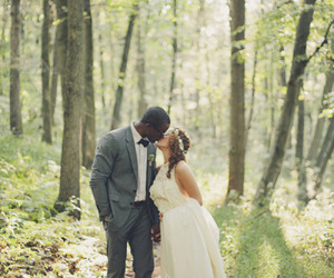 couple, embrace, and interracial image
