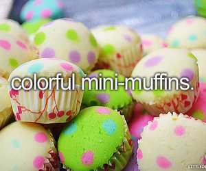 muffin, food, and colorful image