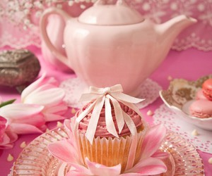 pink, cake, and sweet image