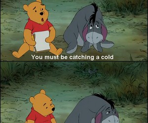 winnie the pooh, eeyore, and frases image