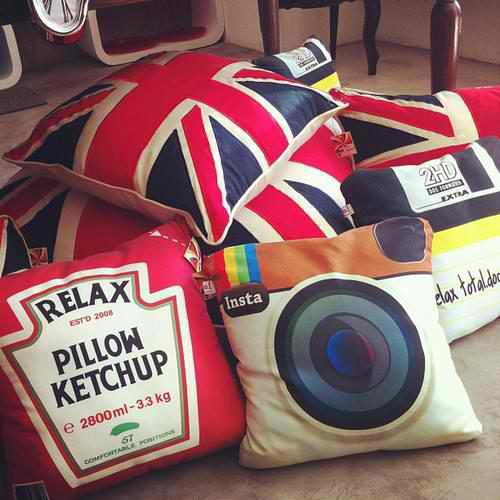 pillow, instagram, and ketchup image