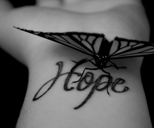 hope, butterfly, and tattoo image